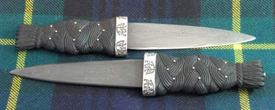 Pair of custom made Sgian Dubhs