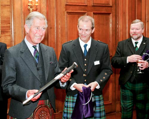 Presentation of a Highland Dirk to HRH Prince Charles