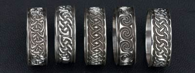 Ferrule Bands in Sterling Silver