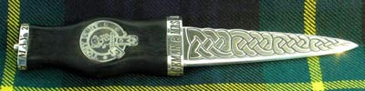 Clan Crest inlay Sgian Dhu