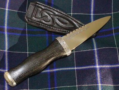 mens gift sgian dubh,Scottish gift wedding gift groom gift Damascus Steel Sgian Brew in Snakewood and Wild Cherry Kilt knife
